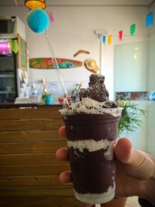 Açaí with coconut.