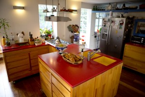 We enjoyed making lots of home cooked meals (and desserts) in this kitchen!