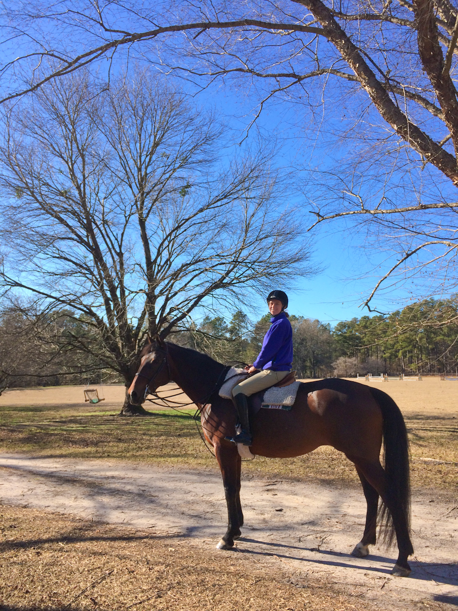 Cassie's birthday horseback ride in Southern Pines, NC.