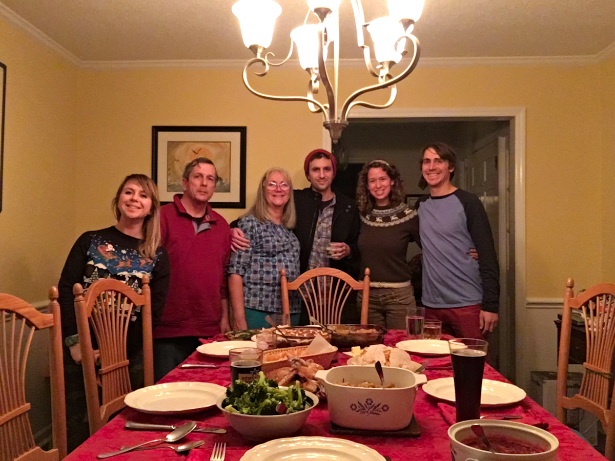 Christmas dinner with Jordan's family in Wilmington, NC.