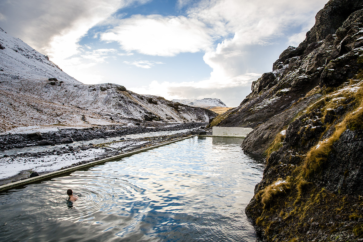 This is one of the oldest swimming pools / hot pots in Iceland!