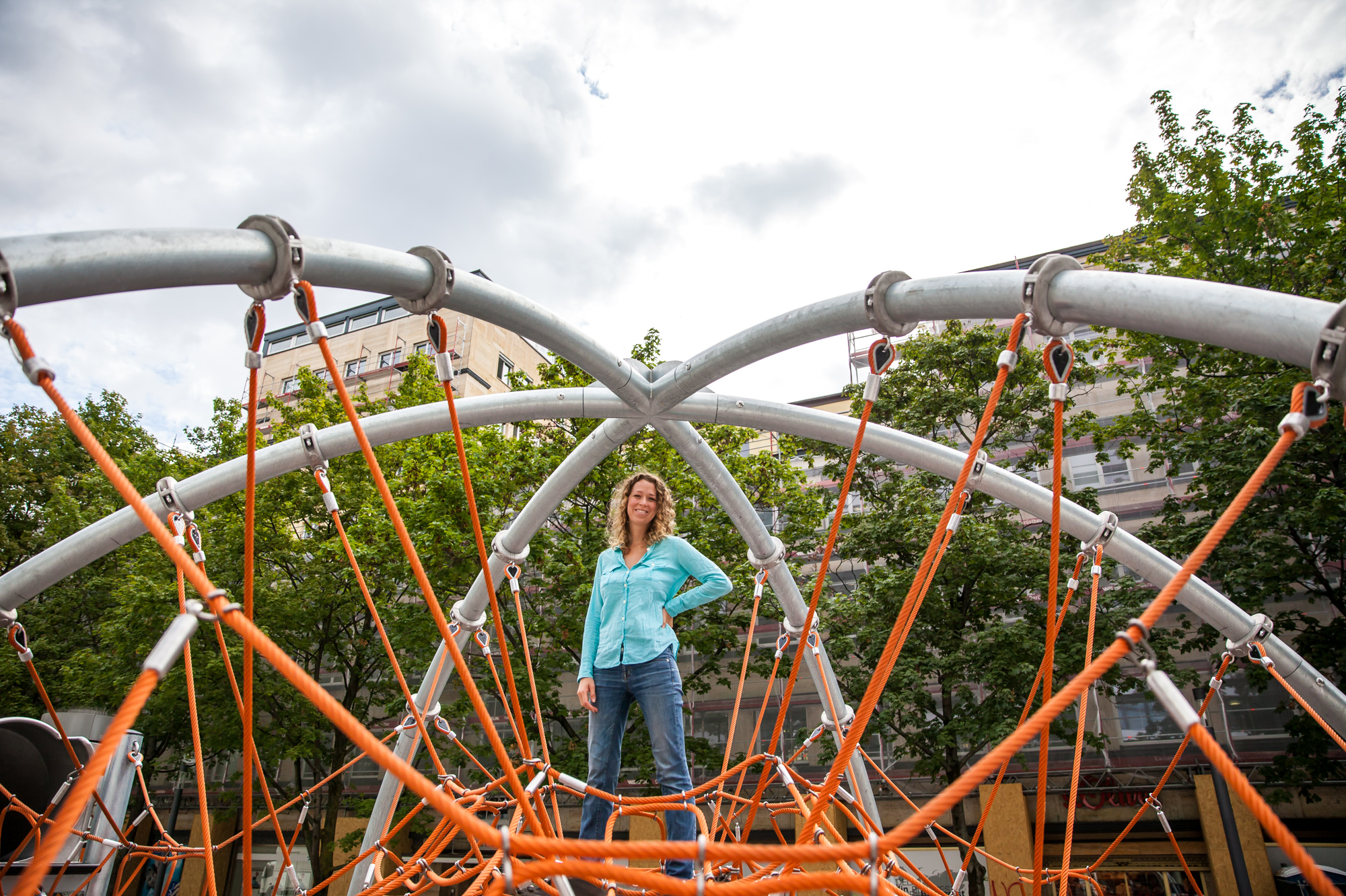 The oldest kid on the playground. I'm sure I'm breaking some German law by doing this too!